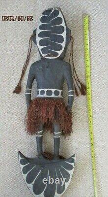 Large Genuine old Papua New Guinea Food Hook carved painted wood Tribal Art