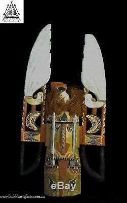 Large Powerful Malagan Spirit Mask, Kavieng, New Ireland, PNG, Papua New Guinea
