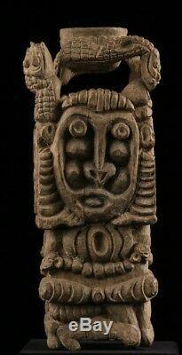 Mortier rituel du sépik, ritual mortar, oceanic tribal art, papua new guinea