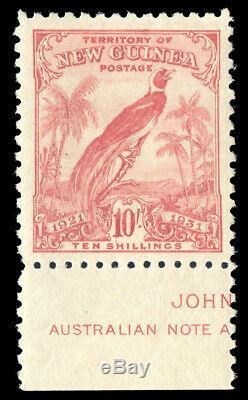 New Guinea 1931 Bird of Paradise 10s bright pink IMPRINT superb MNH. SG 161