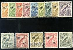 New Guinea 1931 Bird of Paradise set complete MLH. SG 163-176. Sc C14-C27