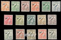 New Guinea 1932-34 Bird Of Paradise Without Date Scrolls Air Post Set Mint #c28