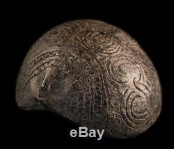 Noix de coco ciselée, chiseled coconut, oceanic art, papua new guinea