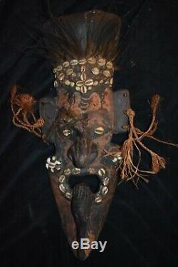 ORIG $399-PAPUA NEW GUINEA RITUAL CROCODILE MASK 1900S 25in PROV