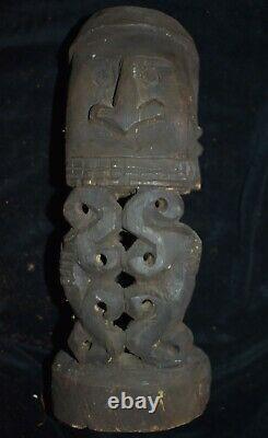 ORIG $599-PAPUA NEW GUINEA RITUAL BIAK KORWAR 1900S 12in PROV
