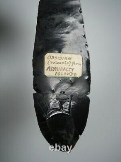 Oceanic Polynesian Papua New Guinea Admiralty Islands Obsidian Spear With Label