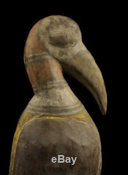 Oiseau calao, hornbill bird sepik carving, papua new guinea, oceanic art, tribal