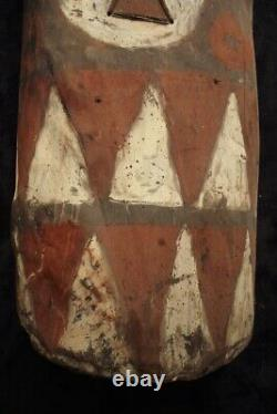 Old Highlands War Shield with Arrow Tips Embedded Papua New Guinea mid 20thC