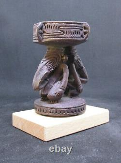 Old Miniature Carved SEPIK Mortar PAPUA NEW GUINEA early 1900