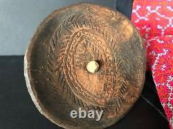 Old Papua New Guinea Abelam Carved Childs Spinning Top beautiful & unique