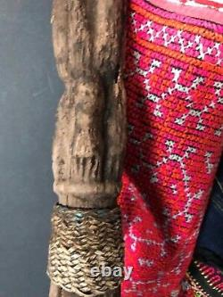 Old Papua New Guinea Abelam Carved Wooden Yam Peg / Stake Circa 1960s