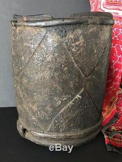 Old Papua New Guinea Carved Hardwood Container / Ex-Peter Hallinan Collection