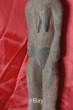 Old Papua New Guinea Carved Wooden Ancestral Figure wonderful ageing & patina