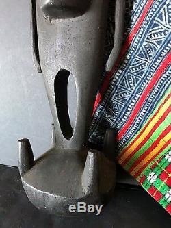 Old Papua New Guinea Carved Wooden Sepik River Food Hook unique shape & design