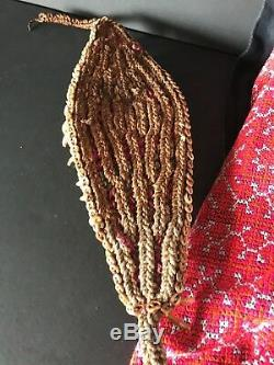 Old Papua New Guinea Dogs Fang Ceremonial Arm Band unique Western Highlands. L