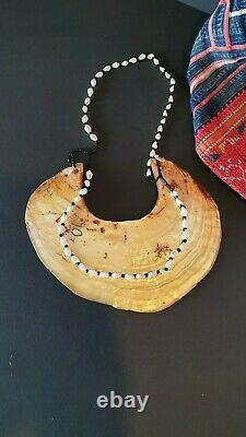 Old Papua New Guinea Kina Shell Necklace beautiful collection piece