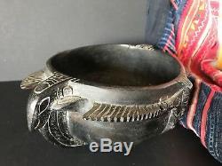 Old Papua New Guinea Kiwai Island Gulf of Papua Carved Ceremonial Bowl
