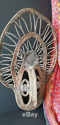 Old Papua New Guinea Sepik Abalem Woven Yam Mask beautiful collection item