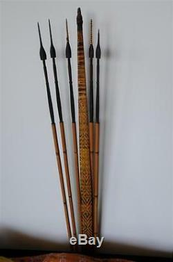 Old Papua New Guinea Solomon Islands Young Mans Bow & Arrows Set