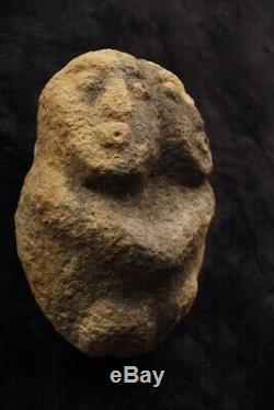 Old Stone Ancestral Figure Carving Papua New Guinea Western Highlands