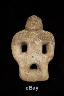 Old Stone Anthropomorphic Figure Papua New Guinea mid 20thC