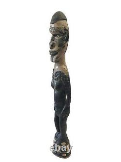 Old Tribal Oceanic Papua-New Guinea Standing Ancestor Figure Sculpture 22 H