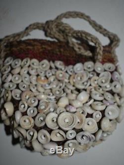Orig $1099 Papua New Guinea Witchdoctors Conus Bag 12in Prov