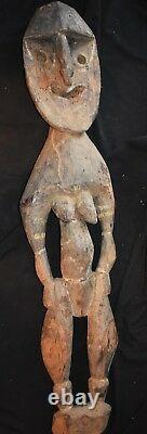 Orig $399- Papua New Guinea Wood Kwoma Nogwi Figure 1900s 36 Prov 5 Day