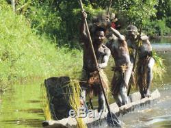 Orig $399-mega Papua New Guinea Sepik War Canoe Prow 1900s 40 Prov