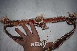 Orig $699- Papua New Guinea, Ritual Belt, Snake Skin Dog Teeth 1900s 20 Prov