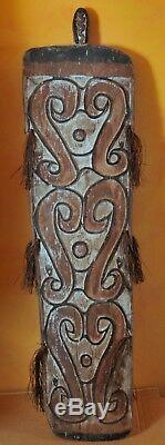Original War Shield, Tameng, Papua New Guinea, Asmat Tribe