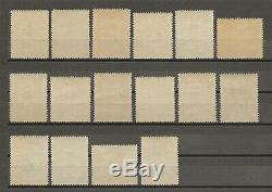 PAPUA 1932-40 SG 130/45 MNH Cat £550