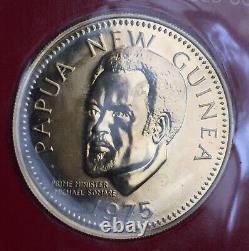 PAPUA NEW GUINEA 100 kina 1975 GOLD (9.57 gr.) KM# 9 UNC