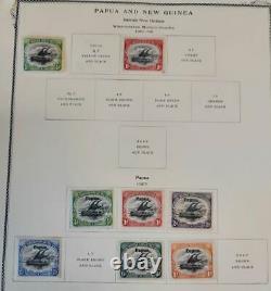 PAPUA NEW GUINEA COLLECTION 1901-85 Kabe Hingeless Album, Mint NH/LH Scott $670