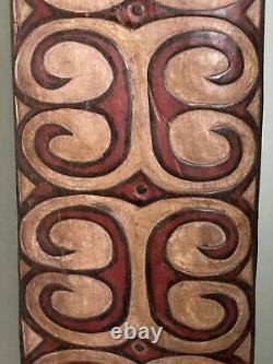 Papau New Guinea Asmat Tribal Art, Hardwood Ceremonial Shield