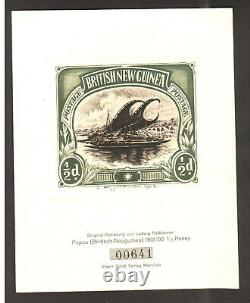 Papua New Guinea 1923 Rare Original Numbered Haimer Etching PROOF