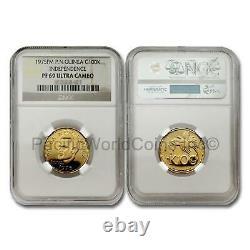 Papua New Guinea 1975 Independence 100 Kina Gold NGC PF69 Ultra Cameo SKU# 7591