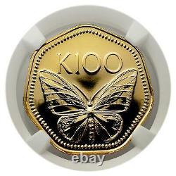Papua New Guinea 1978 Golden Butterfly 100 Kina Gold TruGrade PL66 SKU#7753