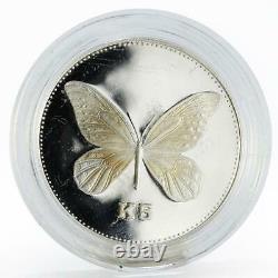Papua New Guinea 5 kina Queen Alexandra Butterfly proof silver coin 1992
