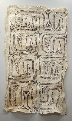 Papua New Guinea Barkcloth Ceremonial Baining Cloth Tapa Cloth 50