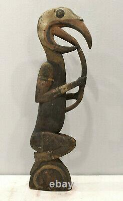 Papua New Guinea Bird Wood Statue Sabut Myth Bird