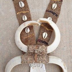 Papua New Guinea Boar Tusk Ceremonial Necklace