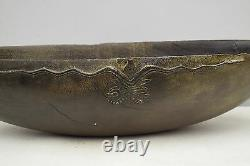 Papua New Guinea Ceremonial Bowl Carved Wood Siassi Blackened Wood Carved Bowl