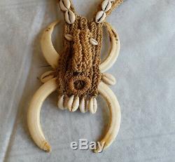 Papua New Guinea-Ceremonial Necklace-Boar Tusks Necklace