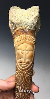 Papua New Guinea Dagger Carved Cassowary Ceremonial Ritual Dagger Knife