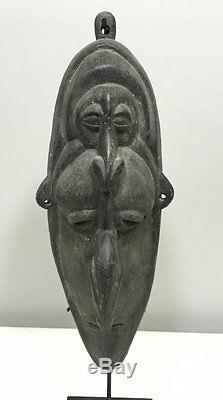 Papua New Guinea East Sepik Boiken Two Face Ceremonial Spirit Mask
