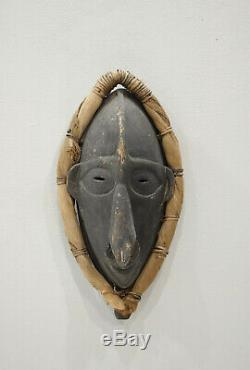 Papua New Guinea Mask Black Wood Lower Sepik River Ancestor Mask