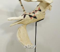 Papua New Guinea Mask Kavat Baining Bird Face Fire Dance Bark Cloth Mask