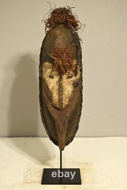 Papua New Guinea Mask Mwai Angorman Village Initiation Mwai Shell Clay Mask