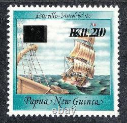 Papua New Guinea Overprints K1.20 On 40t Ship Double Overprint Muh